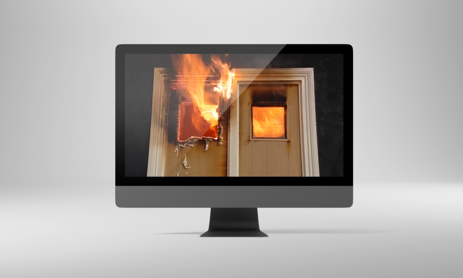 Fire testing via live streams